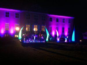 Schloß Reichstädt bei Nacht
